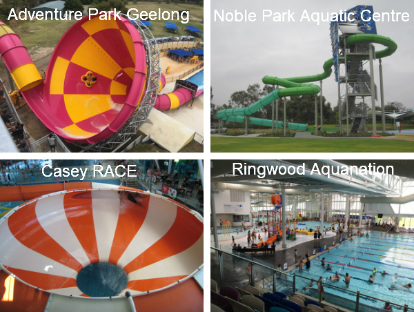 Aquatic Centres in Melbourne and Geelong