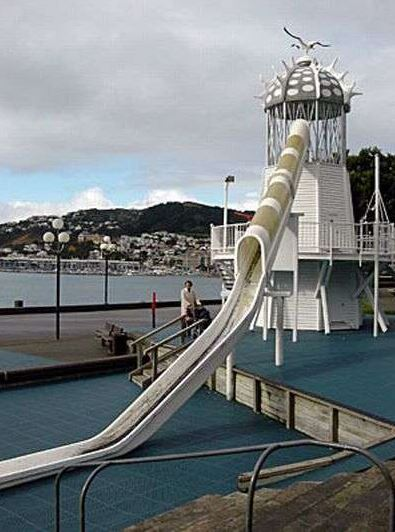 Lighthouse Slide at Wellington, New Zealand