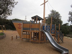 Black Rock Playground Pirate Ship